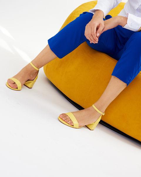 sandales - jaunes - San Marina - femme - chaussures - maroquinerie - mode- cuir - été